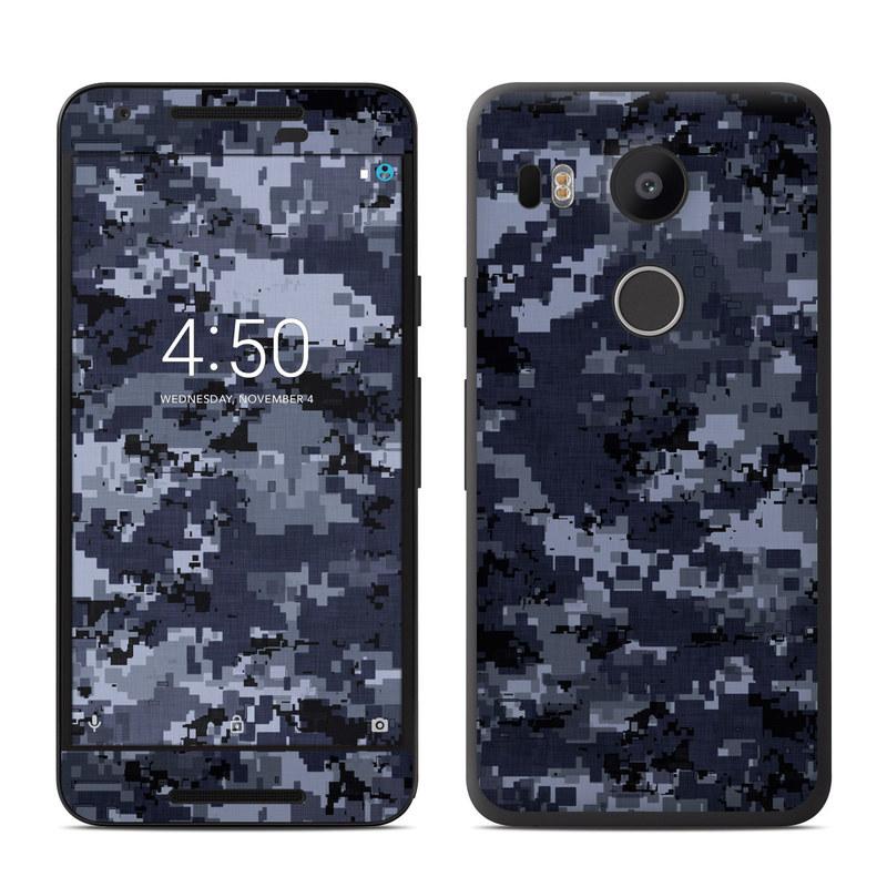 nexus 5 skin template - google nexus 5x skin digital navy camo by camo decalgirl