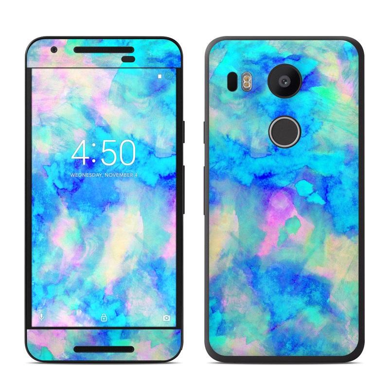 Google nexus 5x skin electrify ice blue by amy sia for Nexus 5 skin template