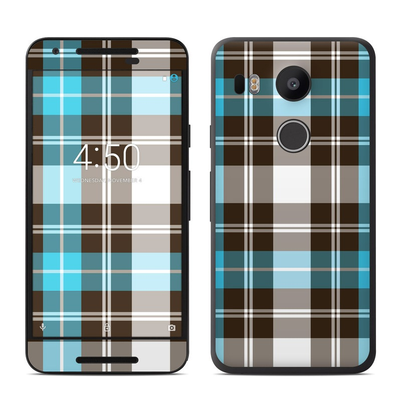 nexus 5 skin template - google nexus 5x skin turquoise plaid decalgirl