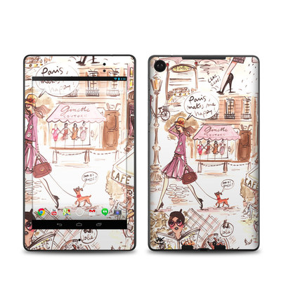 Google Nexus 7 2013 Skin - Paris Makes Me Happy