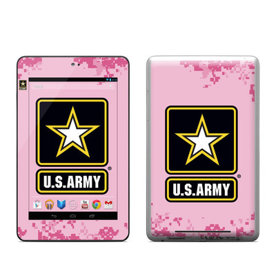 Google Nexus 7 Tablet Skin - Army Pink
