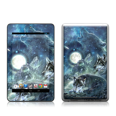 Google Nexus 7 Tablet Skin - Bark At The Moon