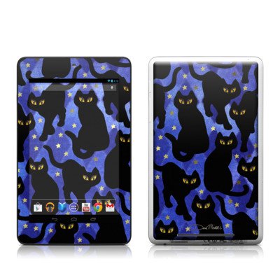 Google Nexus 7 Tablet Skin - Cat Silhouettes