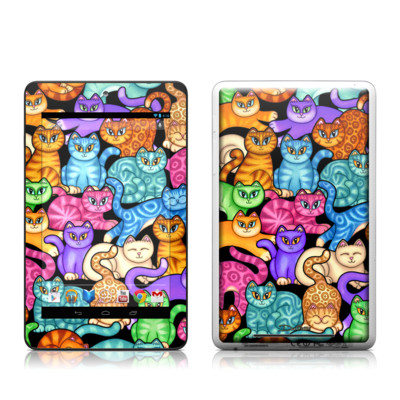 Google Nexus 7 Tablet Skin - Colorful Kittens