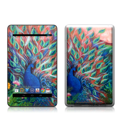 Google Nexus 7 Tablet Skin - Coral Peacock
