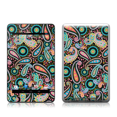 Google Nexus 7 Tablet Skin - Crazy Daisy Paisley