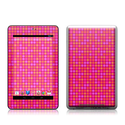 Google Nexus 7 Tablet Skin - Dots Pink
