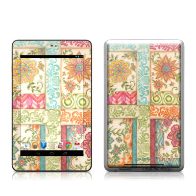 Google Nexus 7 Tablet Skin - Ikat Floral