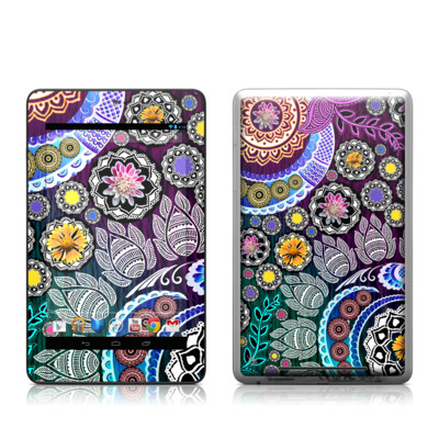 Google Nexus 7 Tablet Skin - Mehndi Garden