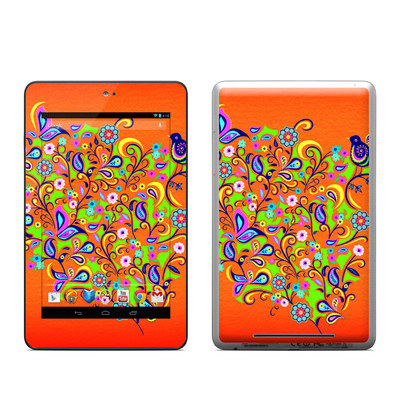 Google Nexus 7 Tablet Skin - Orange Squirt