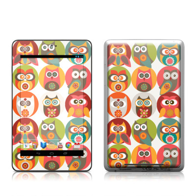 Google Nexus 7 Tablet Skin - Owls Family