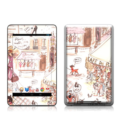 Google Nexus 7 Tablet Skin - Paris Makes Me Happy