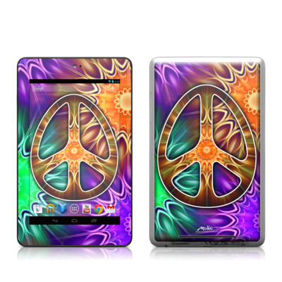 Google Nexus 7 Tablet Skin - Peace Triptik