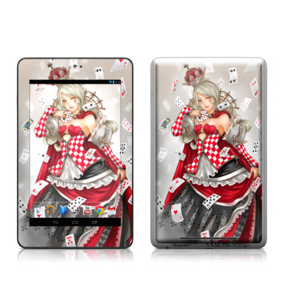 Google Nexus 7 Tablet Skin - Queen Of Cards