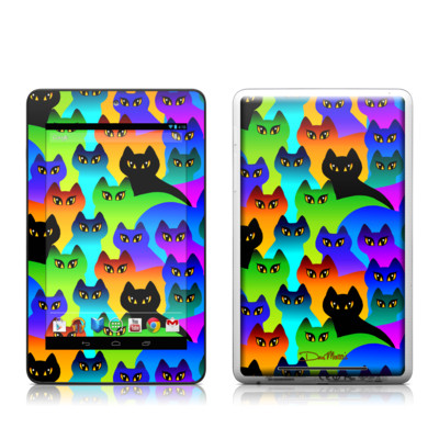 Google Nexus 7 Tablet Skin - Rainbow Cats