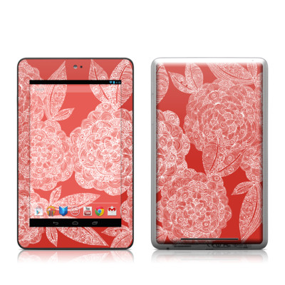 Google Nexus 7 Tablet Skin - Red Dahlias