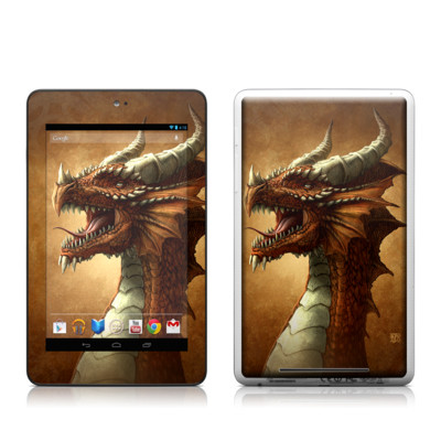 Google Nexus 7 Tablet Skin - Red Dragon