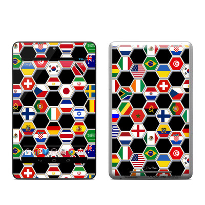 Google Nexus 7 Tablet Skin - Soccer Flags