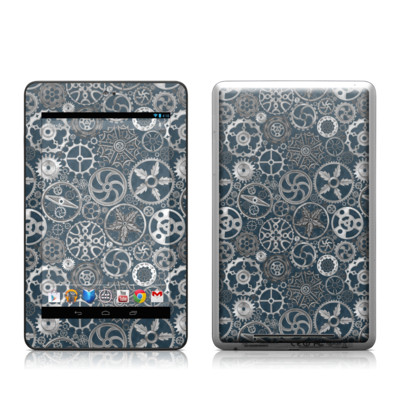 Google Nexus 7 Tablet Skin - Silver Gears