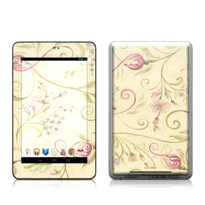 Google Nexus 7 Tablet Skin - Tulip Scroll