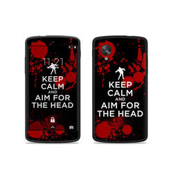 Google Nexus 5 Skin - Keep Calm - Zombie