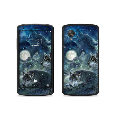 Google Nexus 5 Skin - Bark At The Moon