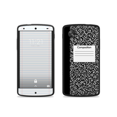 Google Nexus 5 Skin - Composition Notebook