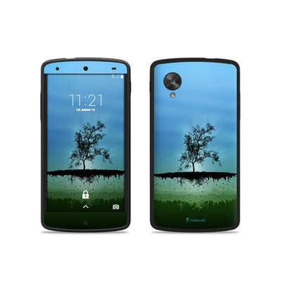 Google Nexus 5 Skin - Flying Tree Blue