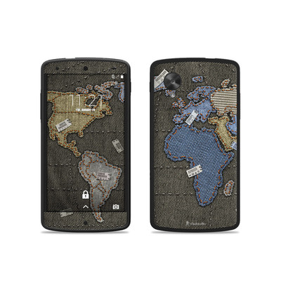 Google Nexus 5 Skin - Jean Map