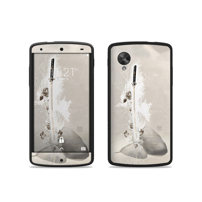 Google Nexus 5 Skin - Katana Gold