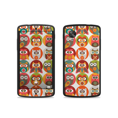 Google Nexus 5 Skin - Owls Family