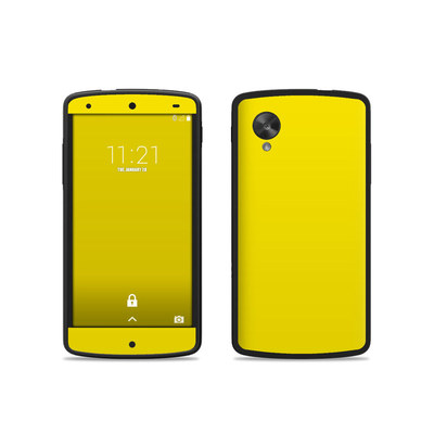 Google Nexus 5 Skin - Solid State Yellow