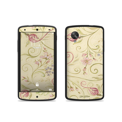 Google Nexus 5 Skin - Tulip Scroll