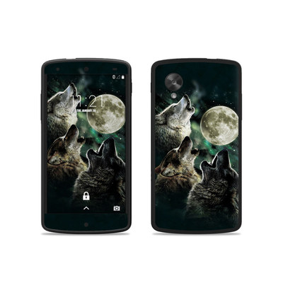 Google Nexus 5 Skin - Three Wolf Moon