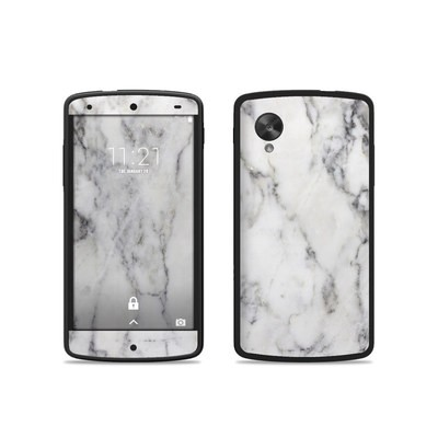 Google Nexus 5 Skin - White Marble