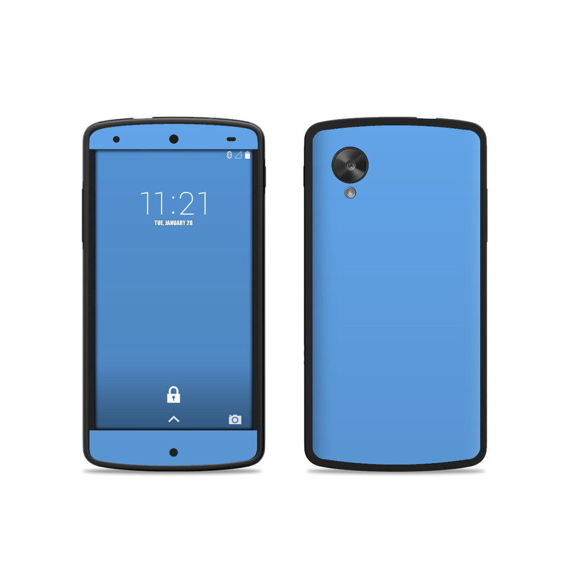 nexus 5 skin template - google nexus 5 skin solid state blue by solid colors