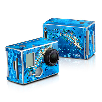 GoPro HD Hero2 Skin - Barracuda Bones
