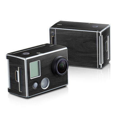 GoPro HD Hero2 Skin - Black Woodgrain