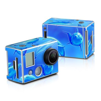 GoPro HD Hero2 Skin - Swimming Dolphins