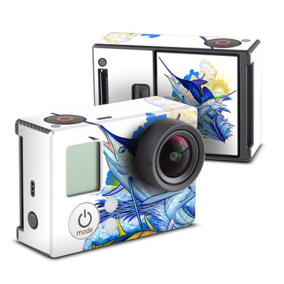 GoPro Hero3 Skin - Blue White and Yellow
