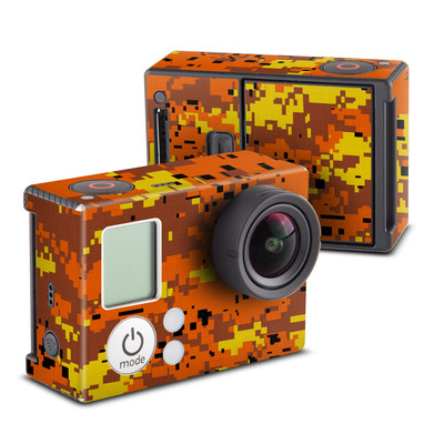 GoPro Hero3 Skin - Digital Orange Camo