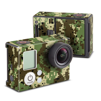 GoPro Hero3 Skin - Digital Woodland Camo