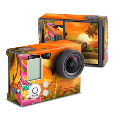 GoPro Hero3 Skin - Sunset Flamingo