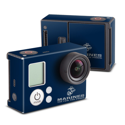 GoPro Hero3 Skin - USMC Blue