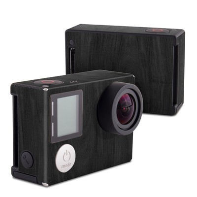 GoPro Hero4 Black Skin - Black Woodgrain