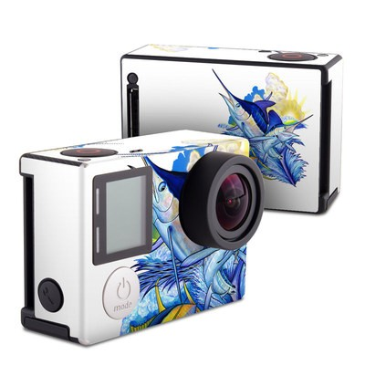 GoPro Hero4 Black Skin - Blue White and Yellow