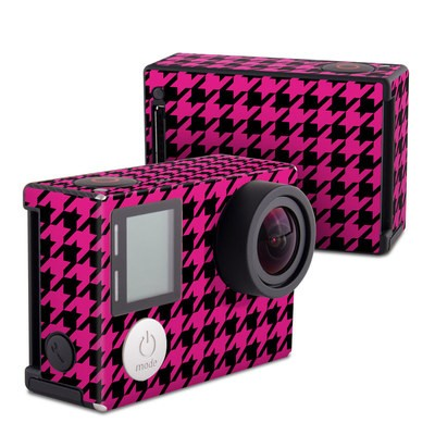 GoPro Hero4 Black Skin - Pink Houndstooth