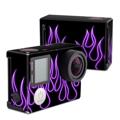 GoPro Hero4 Black Skin - Purple Neon Flames