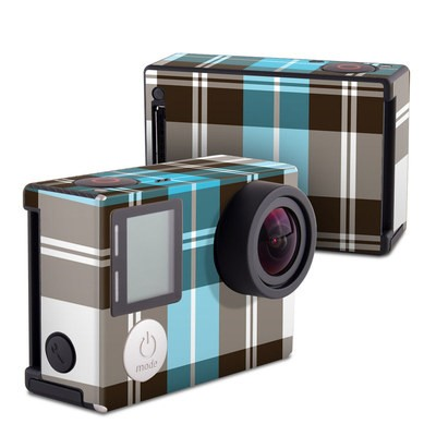 GoPro Hero4 Black Skin - Turquoise Plaid