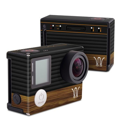 GoPro Hero4 Black Skin - Wooden Gaming System